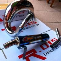 Knalpot MotoCross Udang Trail Creampie Blue - Ninja 2 Tak, RX King