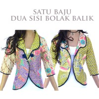 Jual Atasan Batik Wanita Blus Blouse Batik Bolero Jas Batik Katun A17 Murah