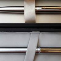 Jual Paket Silver Goldie: 1pcs Parker Jotter SS GT BP+1pcs Sentinel 325 BP Murah