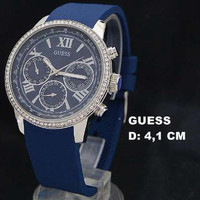 HOT Guess W0924 Diamond Silver Blue Rubber hobi outdoor adventure wil