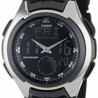 New mewah Jam Tangan Pria Casio AQ160W-1b Analog Digital Untuk Pria Fo