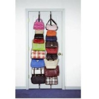 Bag Rack Adjustable Hold 16 Bags - Rak Tas Organizer