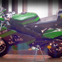 Motor Mini GP PRO RACING NINJA VERSION 50cc 2 Tak Double Muffler MATIC