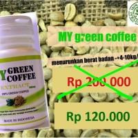 Jual KAPSUL GREEN COFFEE PELANGSING ALAMI+AMAN!!! 100% ORIGINAL Murah