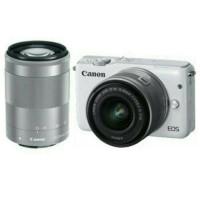 Kamera Canon EOS M10 White / Putih Double Lensa Kit 15-45mm + 55-200mm