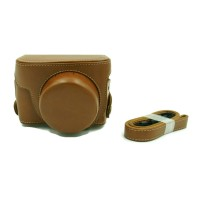 camera case for Canon G1X mark 2 coklat muda
