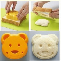 cetakan roti nasi kue bear beruang mold bread bento telur sandwich
