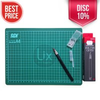 Paket Cutting Mat A4 + Pen Cutter