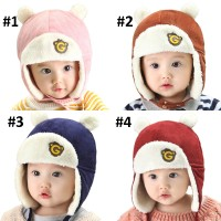 Topi Kupluk Anak Bayi - Beruang Pilot / Fly Bear Baby Hat