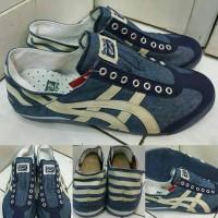 harga Sepatu Kets Sneakers Asics Onitsuka Tiger Denim Slip On Blue Navy Tokopedia.com
