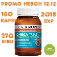Blackmores Omega Triple Concentrated Odourless Fish Oil - 150 kapsul