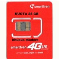 harga PERDANA DATA SMARTFREN 4G UNTUK MODEM KUOTA 25 GB Tokopedia.com