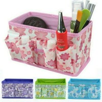 Desktop Cosmetic Box Organizer Kotak Kosmetik lips kiss nyx kuas naked