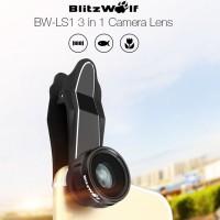 harga Blitzwolf 3in1 Fish eye Wide Angle Macro Lensa Camera Lens Handphone Tokopedia.com
