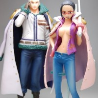 Action Figure PVC One Piece Super Styling Smoker and Tashigi Bandai