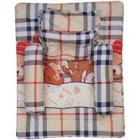 Paket selimut, bantal peang, bantal biasa dan guling burberry-PSG02