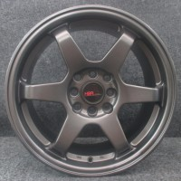 velg Racing yaris Type te37 668 16x7 4x100-114 (44) Semi Matte Grey