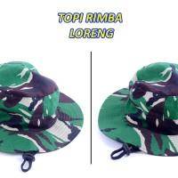 Topi Rimba - Jungle hat - Loreng Tentara - Army Military - Airsoft 3d33d4485e
