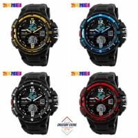 harga Jam Tangan Cowok Keren SKMEI AD1148 Dual Time Digital & Analog Tokopedia.com