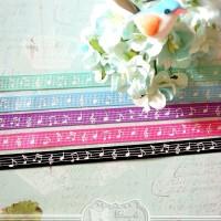 Pita Ribbon Gross Grain Melody Purple 1cm Sewing Handmade
