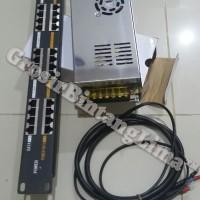 Passive Poe Injector 16 Port Rackmount & PSU fan 24v 10a/ Poe 16 port