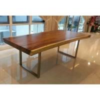 top meja kayu trembesi (Furniture,kursi tamu,lemari, bufet,meja makan)