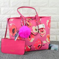 Tas Coach City Tote Floral Set PINK Semi Premium 1688