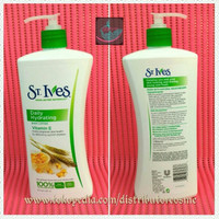 St. Ives Body Lotion Daily Hydrating Vitamin E Original USA - 621 ML