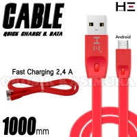 KABEL DATA PLUS FAST CHARGING 2.1A FOR ANDROID 100CM promo bonus iring