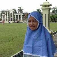 Jual Jilbab Al Azhar - Soft Blue Polka Murah