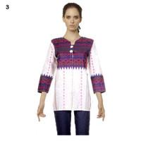 grosir Blus Batik | Blouse Batik | Kemeja Wanita Motif Anjani Putih No