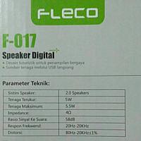 HITS Speaker Mini Komputer FLECO F-017 Murah berkualitas pria wanita a