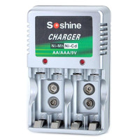 New Soshine Charger Battery ! Baterai 9V Kotak ! AA ! AAA ! 4 slot hob