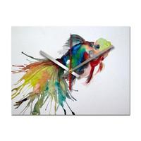 Jam Dinding Unik Artistik - Fish Wall Clock