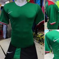 Setelan Jersey Bola Futsal Lokal Polosan Nike Indonesia Hijau
