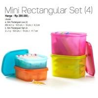 Jual Tupperware Mini Rectangular Set Wadah Tempat Makanan / Toples Murah