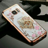 Softcase Flower Diamond Chrome Samsung Galaxy Grand Neo / 9060 + Ring