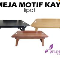 harga Meja Laptop / Meja Lipat Motif Kayu / Meja Belajar Mini Tokopedia.com