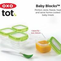 4 Oz Oxo Tot Baby Blocks Freezer Storage Cube Anti Bocor Oxotot