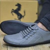 sepatu ferrari rosberg casual sneakers pria 4 warna