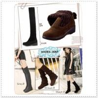harga Sepatu Knee Winter Boots Boot Wanita Cewek Suede Selutut Korea Import Tokopedia.com
