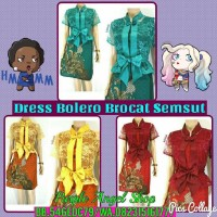 Dress BOLERO BROKAT Batik SEMI SUTERA JAGUAR PITA