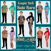 Couple Setelan Rok LILIT N Blouse KEBAYA Kutu Baru Batik SINAR MAS