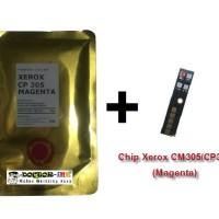 Bubuk Toner Xerox CM305/CP305 + Chip Japan (Magenta) 70 GRAM