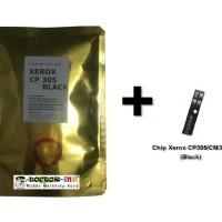 Bubuk Toner Xerox CM305/CP305 + Chip Japan (Black) 70 GRAM
