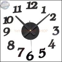 harga Jam Dinding Unik Diy Acrylic Wall Clock Diameter 30-50cm - Black G333 Tokopedia.com