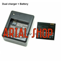 Jual XIAOMI YI DUAL BATTERY CHARGER+ BATTERY FOR INTERNASIONAL (SONY CELL) Murah