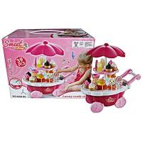 Jual Sweet Shop Candy Cart Pink 668-25/ Mainan Anak Perempuan / Kado Cewek Murah