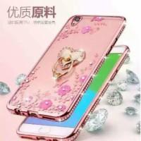 Softcase Silicone Casing Flower Diamond + Ring Case Vivo V3 / Vivo V5