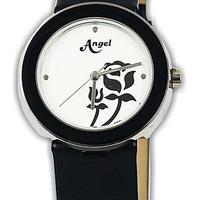 21047L-21 jam tangan wanita karet hitam-30mm ori (toko online Bali)